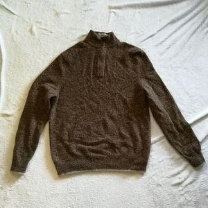 Black Brown 1826 1/4 Zip Sweater